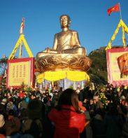 tượng phật hoàng lớn nhất trên đỉnh Yên tử